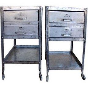 steel nightstands - foter Metal Bedroom Nightstands