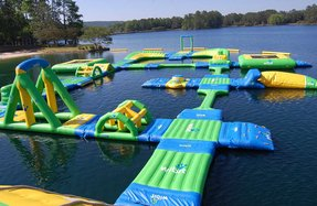 Inflatable party island