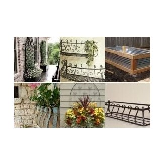 Iron planter box