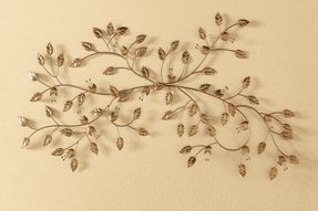 Leaf Is A Symbol Of Health Strength And Gain Through Industry Invite The Metal Wall Hanging Decoration To Your Home Glimmering Vines Shining With
