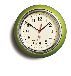 Lime green wall clocks