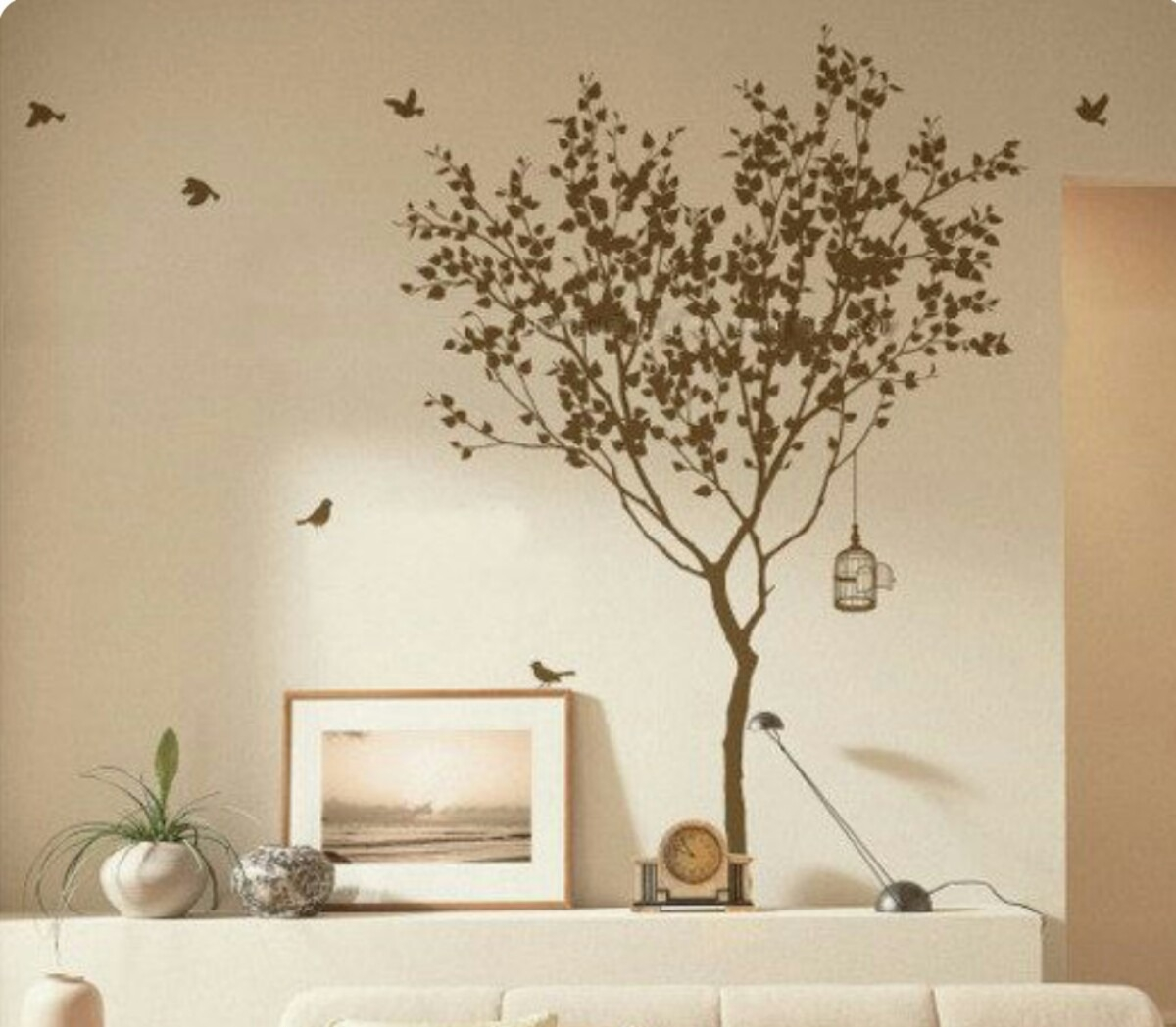 Love Tree 63 Inches Tall Vinyl Wall Decals Tree Wall