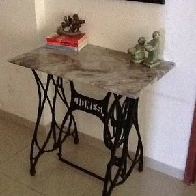 Marble top hall table 1