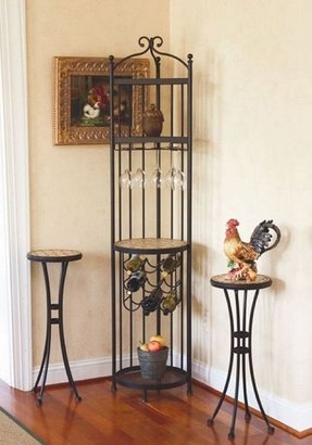 Metal corner wine rack