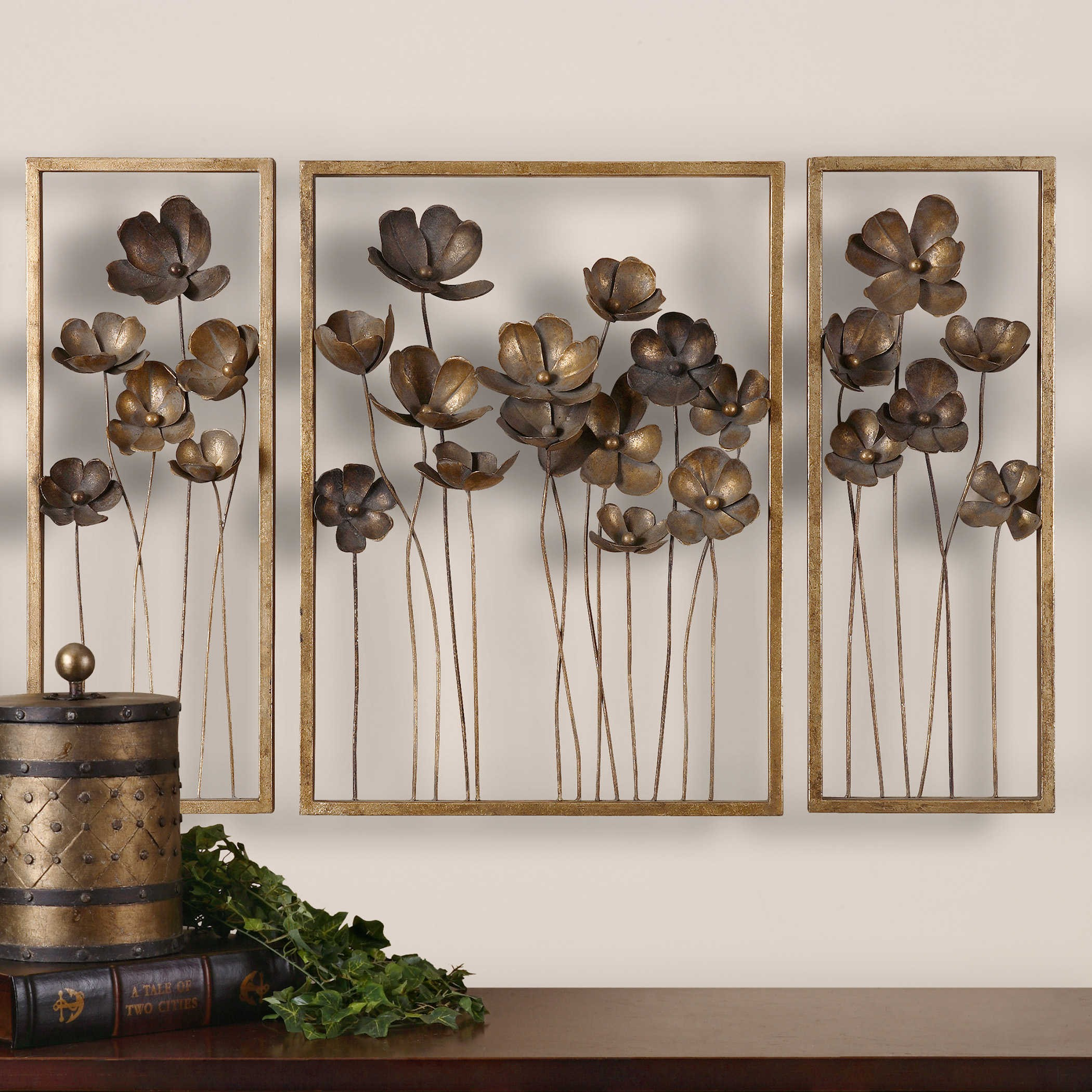 Metal leaf wall hanging 27 & Metal Leaf Wall Hanging - Foter