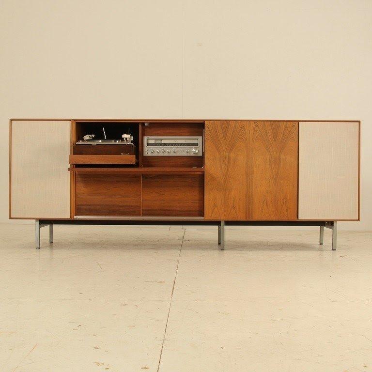 Mid Century Record Console
