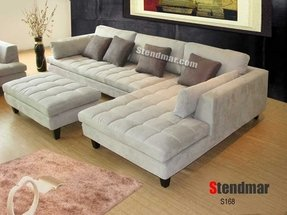 Modern Microfiber Sectional Sofa 7