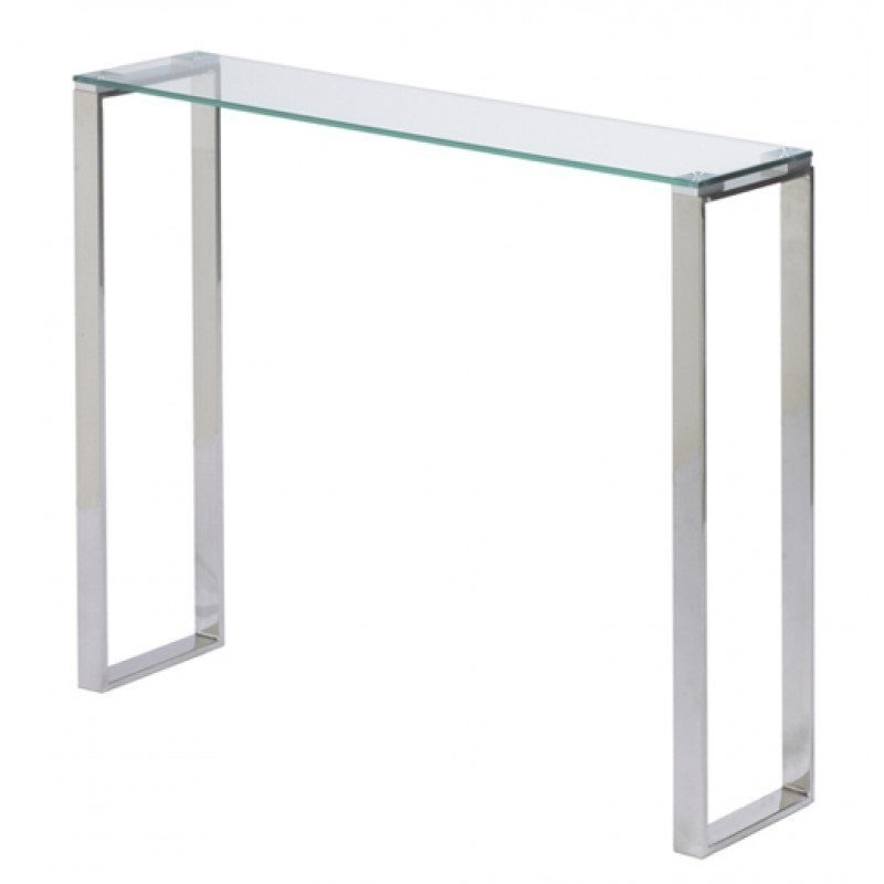 Narrow Console Table Chrome And Glass