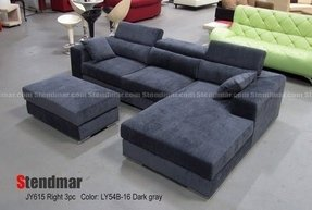 New modern head adjustable microfiber sectional sofa colors