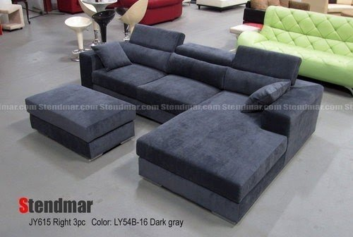 Nice New Modern Head Adjustable Microfiber Sectional Sofa Colors