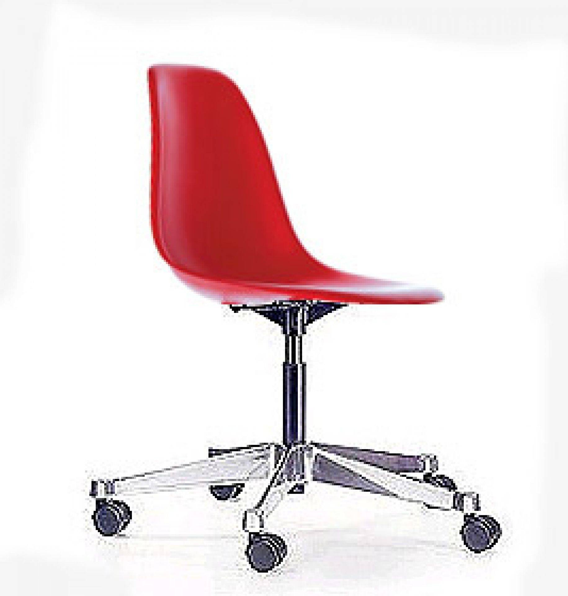 Bon Plastic Swivel Chairs 6