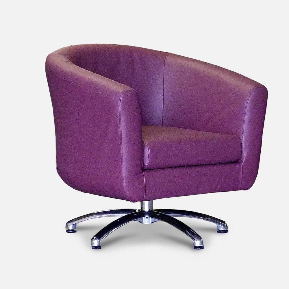 Purple Swivel Chairs 11
