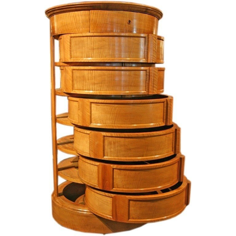 Round chest drawers