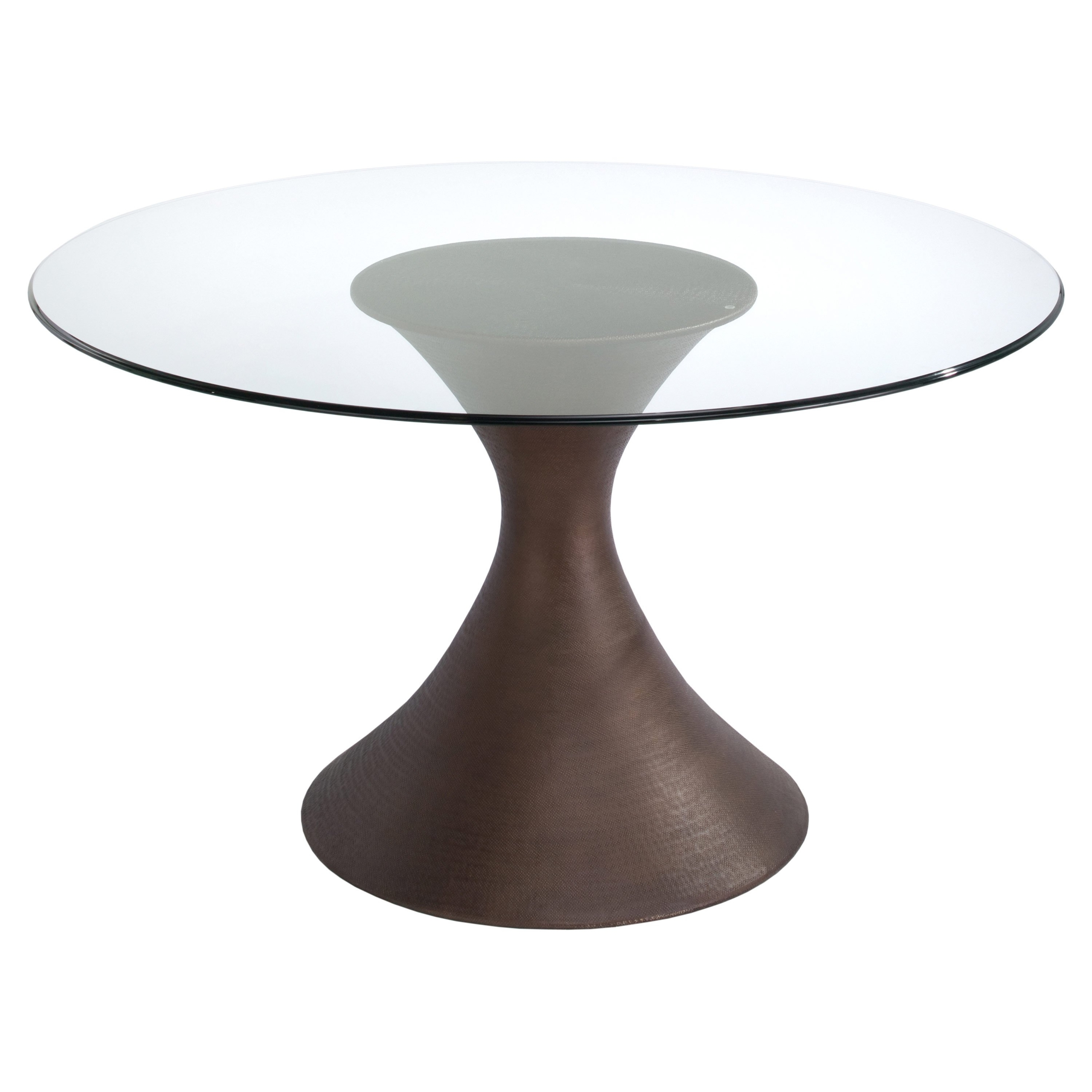 Ordinaire Round Glass Dining Table Wood Base   Ideas On Foter