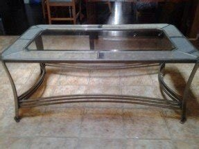 Sale today only beautiful glass pewter coffee table norcross 60