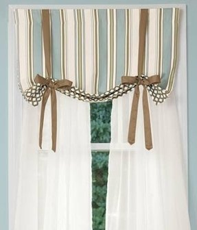 Sheer tie up curtains