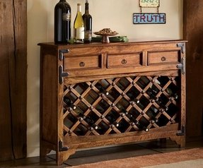 Sofa table with wine rack