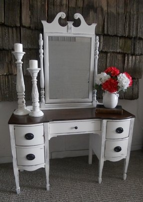 Vintage desk vanity shabby distressed