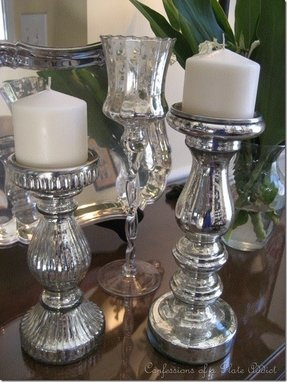 Vintage glass candlesticks