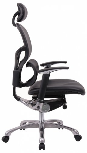 Wave full leather orthopaedic chair side view