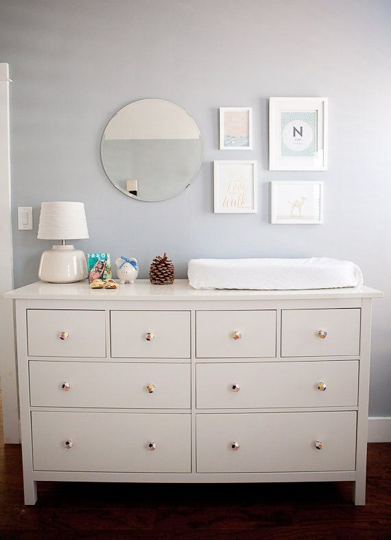 White Changing Table Dresser 6