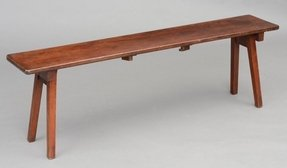 Anglo indian antique folding army navy bench circa 1890