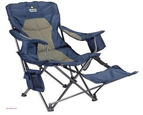 Awesome camping chair with footrest portable beach chairs