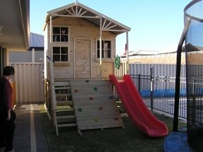 Backyard forts and playhouses