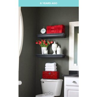 Bathroom Floating Shelves Above Toilet