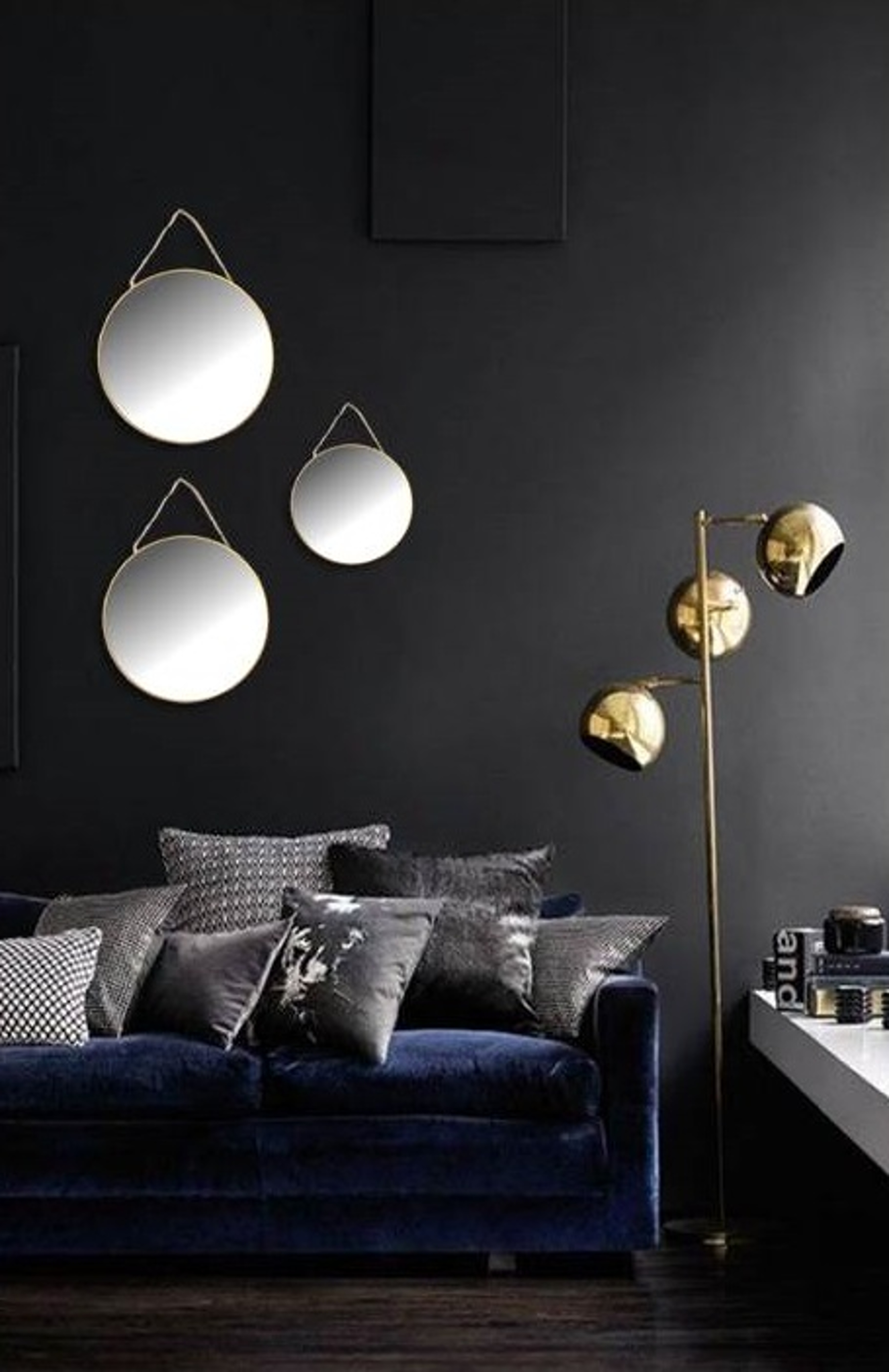 Eliza Bush Interior Design Expert. Black Velvet Sofa 1