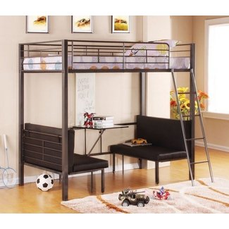 Enjoyable Bunk Bed With Table Underneath Ideas On Foter Download Free Architecture Designs Scobabritishbridgeorg