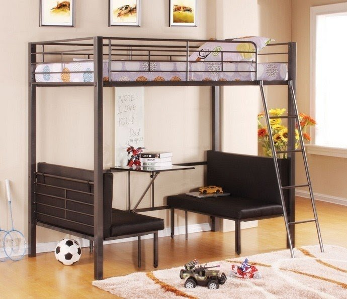 Bunk Bed With Table Underneath
