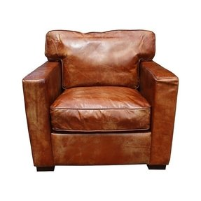Leather armchairs foter for Interesting armchairs