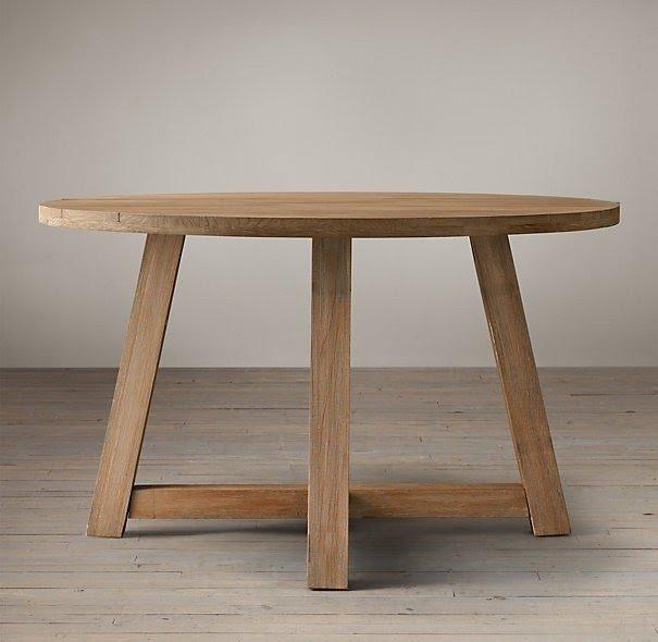 Captivating Circle Wood Table