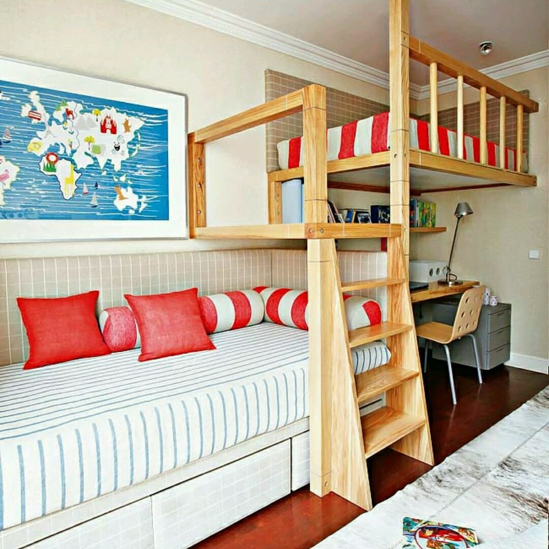 Convertible Loft Bunk Bed. Mendes Natasha. 2. Bunk Bed With Study Table ...