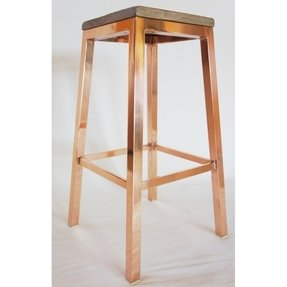 Copper plated barstool