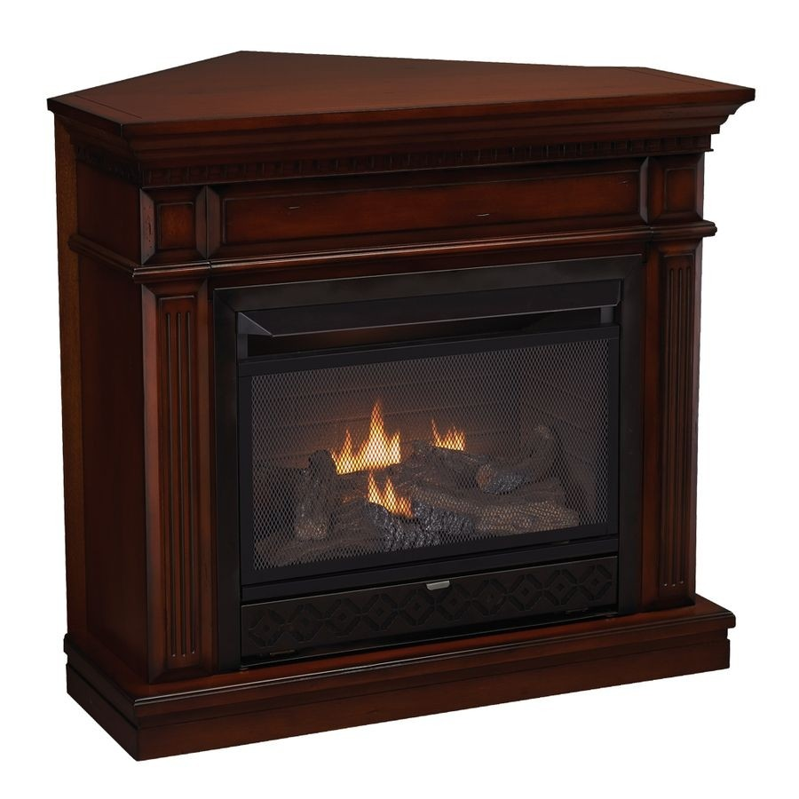 Corner Ventless Fireplace 1