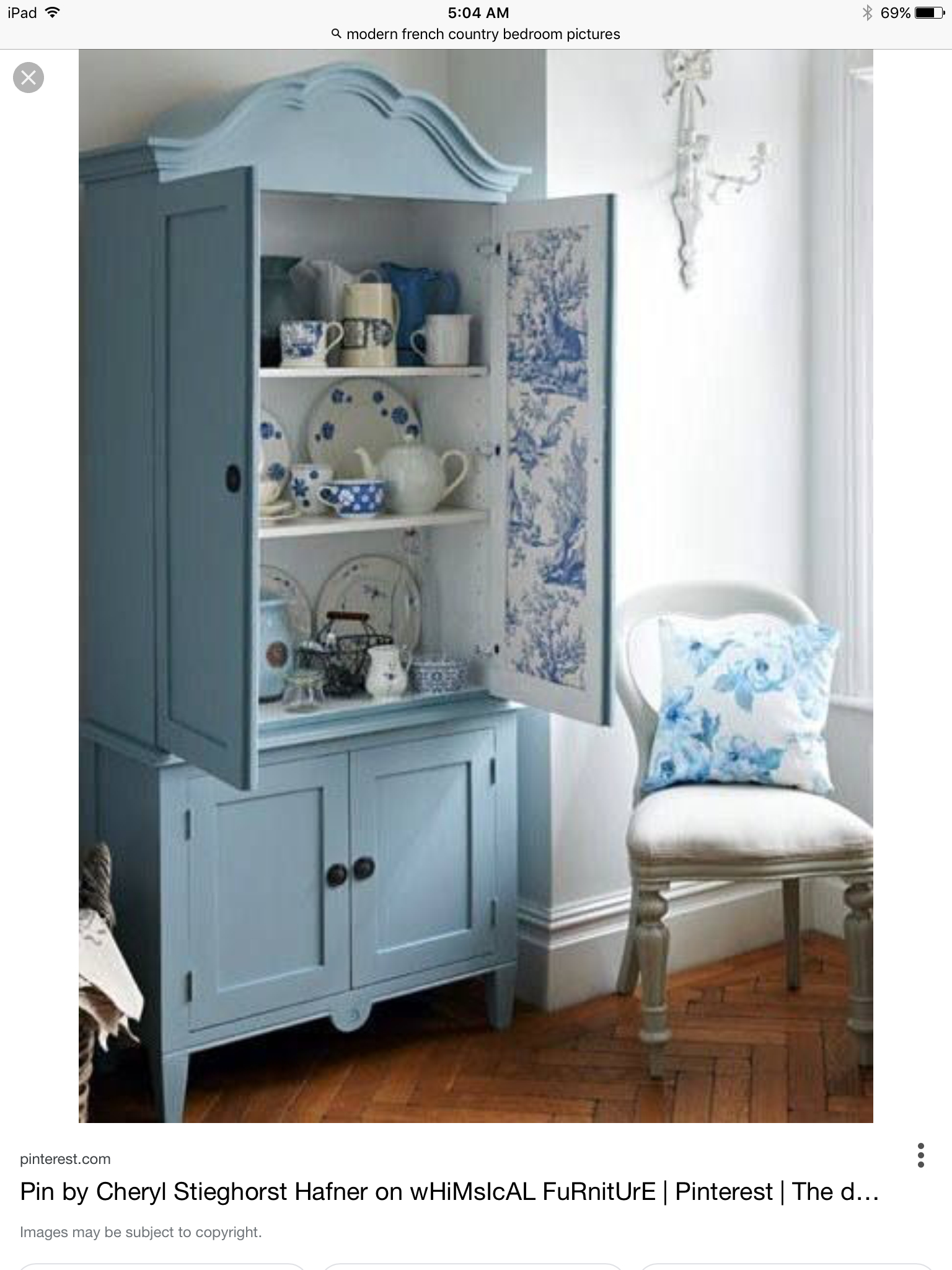 Awesome Distressed Corner Hutch