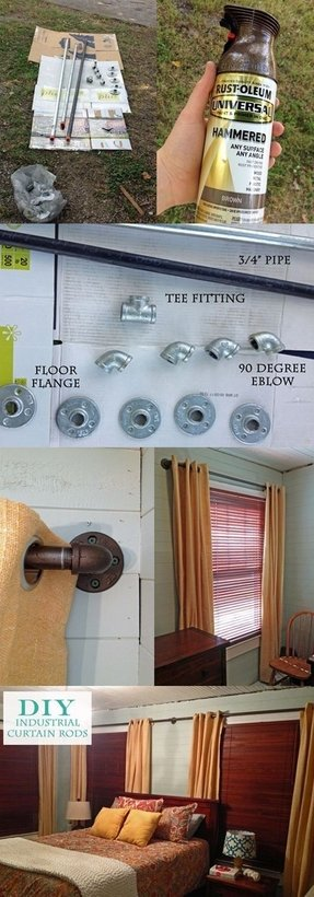 Diy curtain rod tutorial i like that it extends the