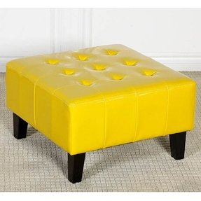 Astounding Yellow Ottomans Ideas On Foter Andrewgaddart Wooden Chair Designs For Living Room Andrewgaddartcom