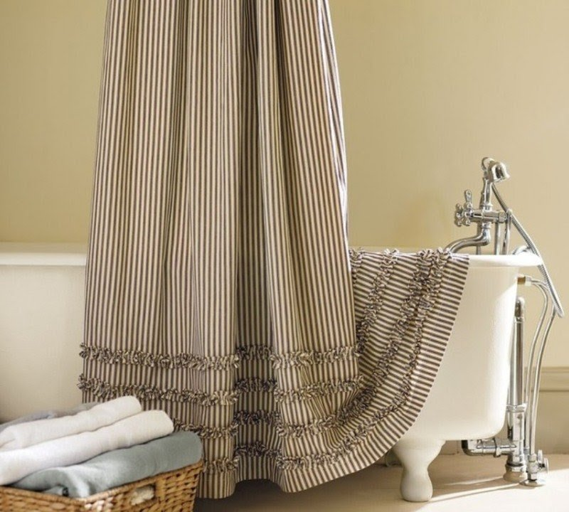 Extra Long Fabric Shower Curtain - Foter