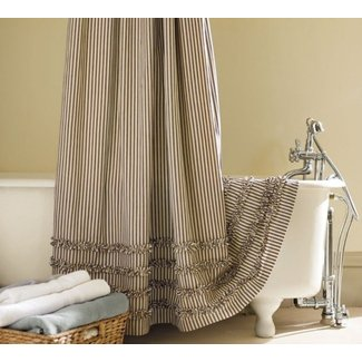 Extra Long Fabric Shower Curtain