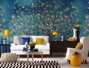 Fantasy forest wallpaper wall decal art