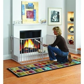 Fireplace gate for baby proofing