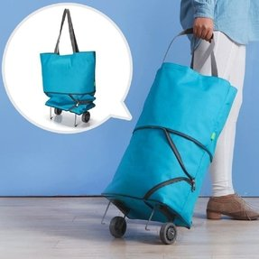Folding Shopping Bag With Wheels Foter