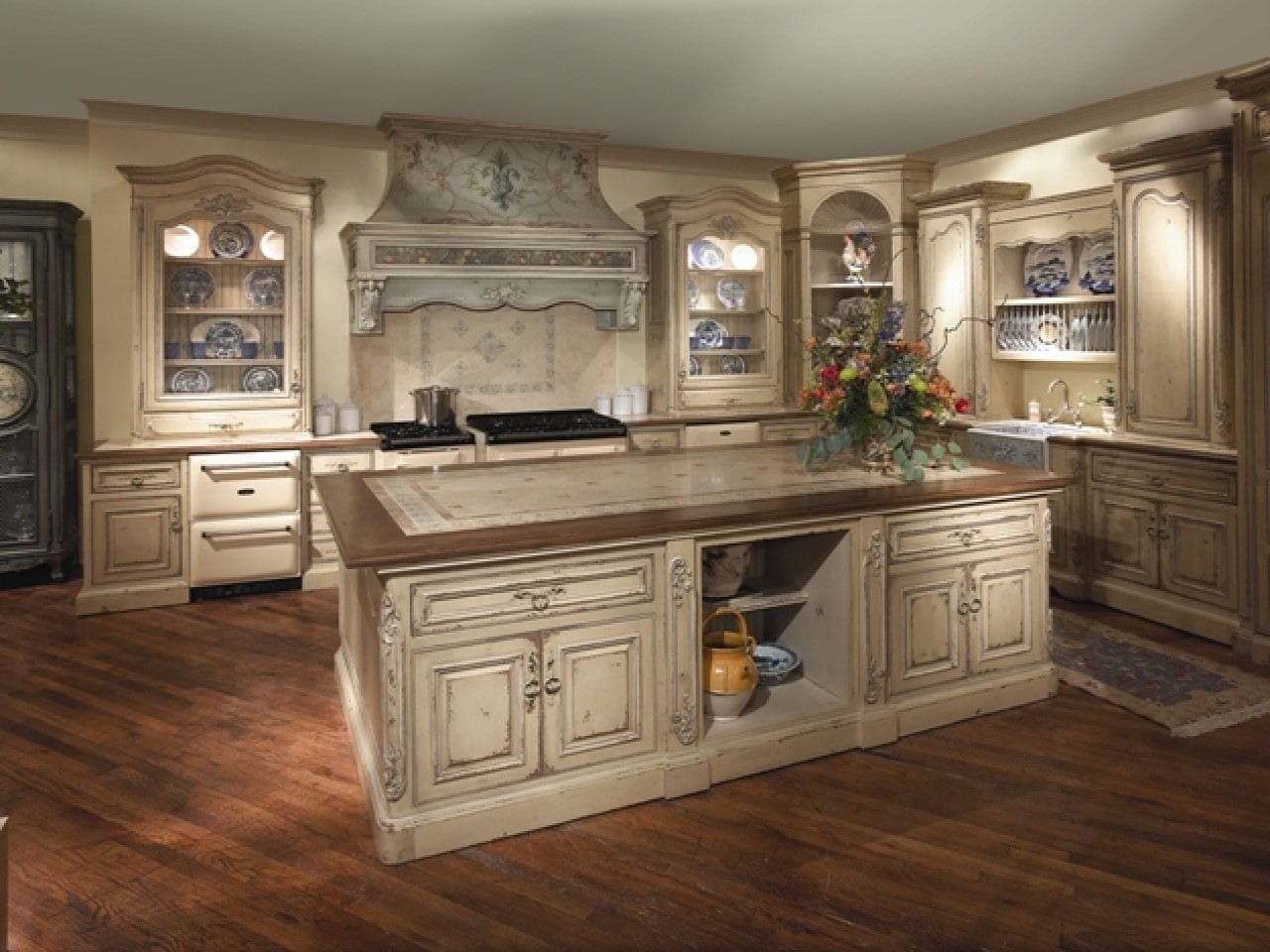 Captivating French Country Cabinets 1