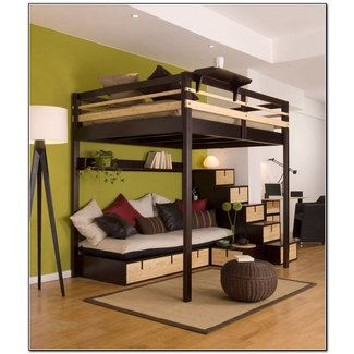 Full Size Bunk Bed With Desk 1