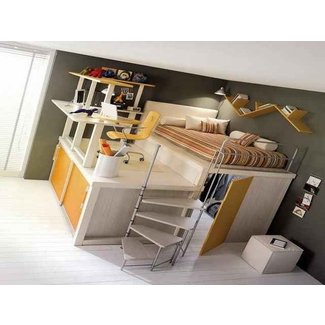 Full Size Loft Bed With Desk 1