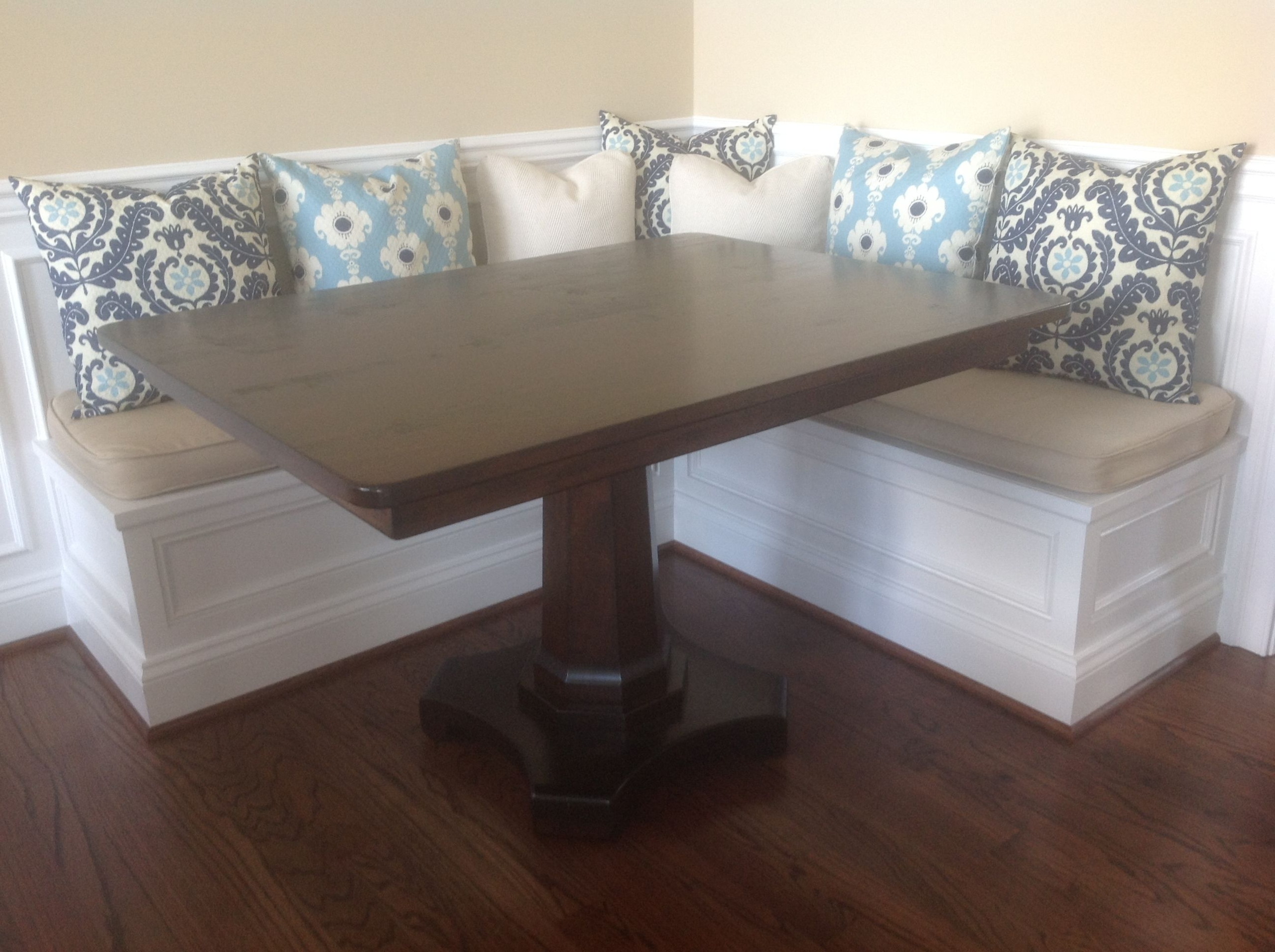 Rectangular pedestal dining table 5