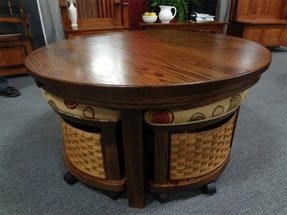 Round coffee table with stools 5